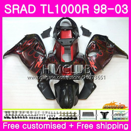 fairings srad Australia - Injection For SUZUKI SRAD TL 1000 R TL1000R 98 99 00 01 02 03 16HM.67 TL1000 R TL 1000R 1998 1999 2000 2001 2002 2003 Fairing Top Red flames