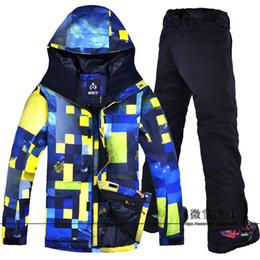 Warm Waterproof Pants Men Australia - 2019 Super Warm Men Ski Jacket Pant Snowboard Clothing Trouser Windproof Waterproof Skiing Winter Suit Male Outdoor Sport Wear