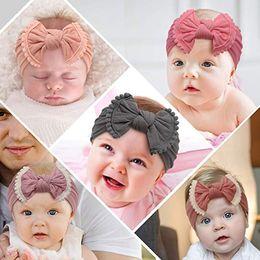 $enCountryForm.capitalKeyWord NZ - Super Soft Nylon Headbands Baby Girl Hair Accessories Knot Hair Bow Infant Newborn Wholesale 33 Colors European Cute Hair Band Boutique 2019