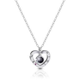 Best Wedding Pendant Australia - 2019 Fashion Trend Heart-shaped Lettering Exquisite Copper Pendant Necklace Noble Temperament Necklace Wedding Jewelry Best Gift