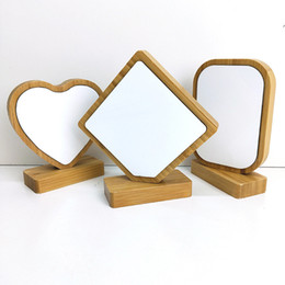Опт термотрансферные бамбуковые рамки для фото 4 стилей бамбука ремесел сублимации пустого Rahmen изображения для рождественских подарков украшения рабочего A07