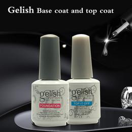 Long Lasting Coating Australia - Harmoney GelishTop Coat + UV Base Coat Foundation for UV Gel Polish Top it off 30 day long lasting Color 15ml