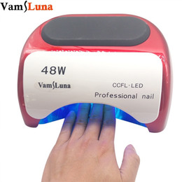 beauty salon lamps Canada - 48w Nail Dryer - Uv Lamp For Nail Polish Uv Gel Fast Dry Ccfl Led Nail Tools With Automatic Sensor Salon Beauty Equipment J190625 J190626