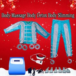 lymph pressure machine 2019 - 2019 Portable Pressotherapy Lymph Drainage Machine 24 Air Bags Air Pressure Pressotherapy Body Massage Body Detox Body S