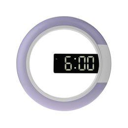 $enCountryForm.capitalKeyWord UK - LED Digital Table Clock Alarm Mirror Hollow Wall Clock Modern Design Nightlight For Home Living Room Decorations ZJ0482