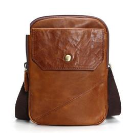 $enCountryForm.capitalKeyWord Australia - Vintage Men's Genuine Leather Bag Shoulder For Men Messenger Bag Leather Small Male Crossbody Bags 2019 Bolso Hombre