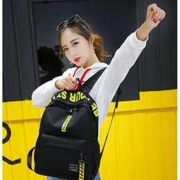 Back Packs For Men Australia - Women Backpack School Bags for Teenage Girls 2019 Black Back Pack Female Schoolbag Teens Men Casual Style Student Book Bag