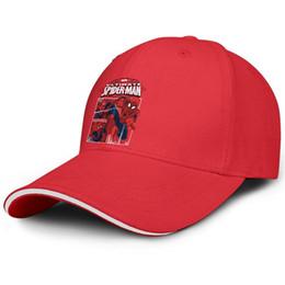 4f7704b5 Spiderman The Avengers red Womens Mens trucker cap adjustable baseball caps  custom Travel Stylish hats