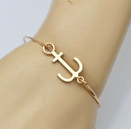 Best Christmas Gifts For Men Australia - Bracelets for Women Fashion Jewelry Gold Plated Charms Anchor Bracelet Cuff Bangle Men Pulseras Best Friend Gift Charm Bracelets