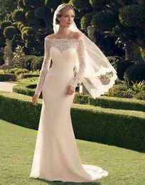 $enCountryForm.capitalKeyWord Australia - Long sleeve Mermaid wedding dress strapless lace bride dresses hot sell backless floral embellished bridal gown De Mariee