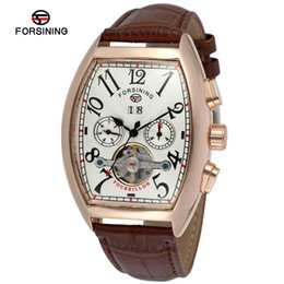 $enCountryForm.capitalKeyWord Australia - Forsining Top Brand Men Casual Watch Luxury Automatic Watch Date Month Display Gold Case Mens Leather Watches Montre Homme SLZa86