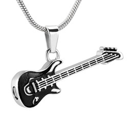 $enCountryForm.capitalKeyWord Australia - IJD11728 Electronic Guitar Cremation Jewelry For Ashes Pendant - Engravable Stainless Steel Memorial Urn Necklace For Women  Men