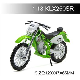 diecast motorcycles Australia - 1:18 Motorcycle Models KLX250SR KLX 250 Diecast Plastic Moto Miniature Race Toy For Gift Collection