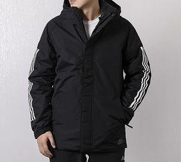 $enCountryForm.capitalKeyWord Australia - 2019 Men's Hooded Winter Outdoor Coat Men Black Hooded Jacket Warm Fashion Tide Brand Jacket with Branded Letter S-2XL