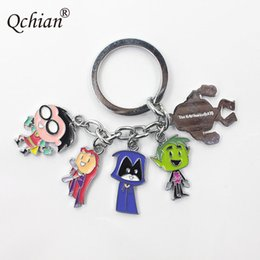 Titan Pendant Australia - Newest Funny DC comics Character Teen Titans car KeyChain cool Superhero Metal toy keyRings Bag Pendant jewelry