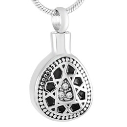 $enCountryForm.capitalKeyWord Australia - IJD9335 Stainless Steel Crystal Flower Round Cremation Keepsake Pendant for Ashes Urns Love Memorial Necklace Jewelry