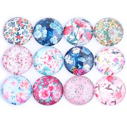 25mm cabochon pendant Australia - Onwear 60pcs 25mm Mixed Flower Photo Round Glass Cabochon Diy Flatback Handmade Jewelry Findings For Pendant Necklace Making