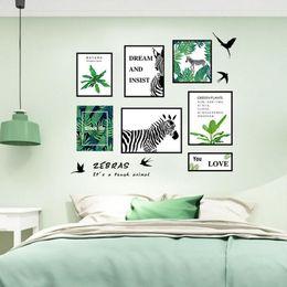 $enCountryForm.capitalKeyWord Australia - Green Plants Zebra Flying Birds Wall Quote Stickers Home Decor DIY Decoration Wall Mural Poster Art Self-adhesive Wallpaper