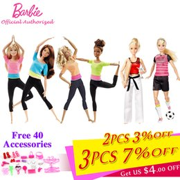 Little Girls Dolls Toys Australia - Brand Limited Collect 3 Style Fashion Dolls Yoga Toy For Little Baby Birthday Gift Barbie Girl Boneca Model Dhl81 Q190521