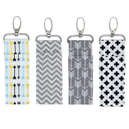 New Wardrobe Australia - New Fashion Key Chain Hanging Storage Bag Cotton Linen Wall Mounted Wardrobe Hang Bag Wall Pouch Lipstick Bag
