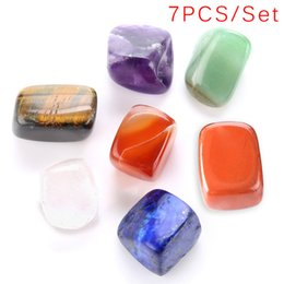 Опт 7 Chakra Crystal Healing Tumbled Stones Set Crystals Mixed Natural Raw Rough Stones for Tumbling