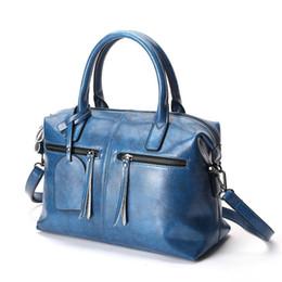 $enCountryForm.capitalKeyWord Canada - High Quality Shoulder Bags For Women Nice Genuine Cow Leather Handbags Lady Tassel Messenger Bag Pillow Bag Bolsos Sac A Main