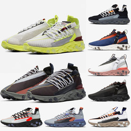 ghost running shoes NZ - 2019 New React LW WR MID ISPA Women Men Running Shoes Platinum Volt Elvet Brown Ghost Aqua Breathable React Shoes Trainers Sports Sneakers