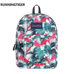 printed backpacks NZ - Runningtiger Unisex New Boy Girl Printing Swisswin Backpack Flower Flamingo Style Schoolbag Teenager School Bags Shoulders Casual Satchel