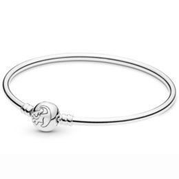 $enCountryForm.capitalKeyWord Australia - New 925 Sterling Silver Bangle A Young Cub Simba & A Star Stone Clasp Snake Bracelet Bangle Fit Bead Charm Diy Europe Jewelry