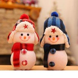 Christmas Eve Snowman Doll Apple Bag Fruit Box Christmas Gift Bag Apple Decoration Red Blue Pink Green