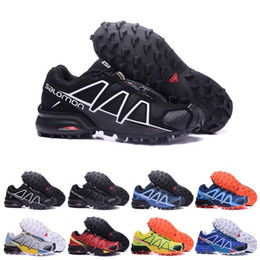 Cross boots online shopping - Salomon Speed cross IV CS Running Shoes Mens Women Trail Run Shoe Outdoor Hiking Sneakers Black Red Designers Trainers Sports Size