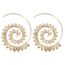 $enCountryForm.capitalKeyWord Australia - Wholesale New Designer Earrings Vortex Gear Women Earrings Alloy Exaggerated Luxury Earring Geometric Circle Screw Fashion Earring