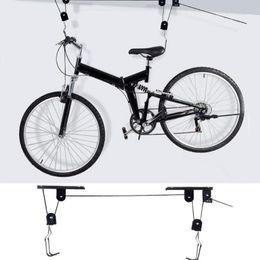 $enCountryForm.capitalKeyWord Australia - Strong 45 lbs Bike Bicycle Lift Ceiling Mounted Hoist Storage Garage Hanger Pulley Rack Bike Parking Rack Metal Lift Assemblies #250353
