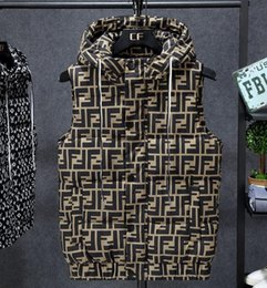 Wholesale vests for men resale online - The new sleeveless vest for autumn and winter for men with cotton vest in is a fashionable warm jacket for young men with bright sleeve
