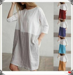 wholesale plus size clothes Australia - Dresses for Womens Clothes Fashion Casual Dresses Plus Size shirt Party Evening Dress summer t-shirt dress for women loose dresses klw0529