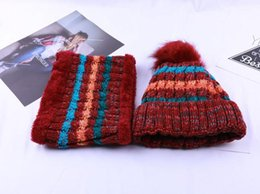 crochet sailor hat NZ - Designer Scarf women Pompon Beanie Hat Fashion Winter Colorful Knitted Fur Ball Hat Outdoor Causal Warm Knit Crochet Ski Cap