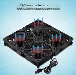 Toptan satış Dizüstü tabanı sessiz soğutma fanı 12 cm USB 5 V çoklu fan kombinasyonu ile plastik örgü kapak ve yönlendirici için silikon ped, PS4 Xbox