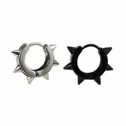 Punk Spikes Studs Australia - 1Pc Fashion 5 Styles Rock Punk Gothic Style Mens Stainless Steel Taper Hoop Spike Stud Earrings