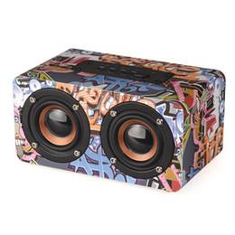 Граффити Беспроводной Bluetooth-спикер Портативный Bluetooth колонки стерео 3D стерео TF карта FM-радио звуковой панели для iPhone Х хз Макс Samsung автомобильные музыкальные колонки на Распродаже