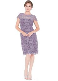 $enCountryForm.capitalKeyWord Australia - Hot Sale Mother off Bride Dresses Short Lace Knee Length Formal Gowns for Wedding Party Purple Maroon Royal Blue Bridesmaid Gowns Cheap