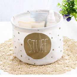 $enCountryForm.capitalKeyWord Australia - Storage Box Cotton Linen Desktop Modern Containers Basket For Bathroom Toy Fashion Organizer Case Boxes