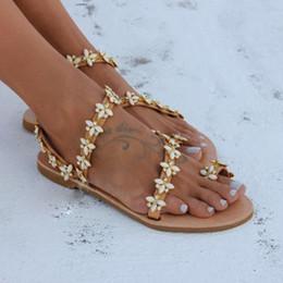 Crystal Heads Australia - YOUYEDIAN Flat Sandals Summer Bohemian Shoes Crystal Diamond Footwear Metal Head Sandals Women Flat-Soled Shoes schoenen vrouw