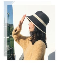 korean gardening hat NZ - The new Korean version of Christmas day is simple and fashionable women's hat shade outdoor large eave hat spring and winter warm hat