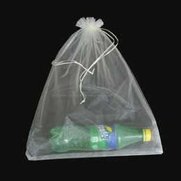 umbrella packing UK - 50pcs bag 30x40cm 35x50cm Organza Bags for Clothes Umbrella Bags drawstring Jewelry Packing Bag T200602