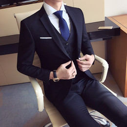 $enCountryForm.capitalKeyWord NZ - High quality men's fashion Slim suits men's business casual groomsman wedding clothes pants trousers sets drop shipping suit