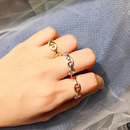 $enCountryForm.capitalKeyWord Australia - Woman design luxury open rings pig nose hollow ring wedding party charms fine jewelry