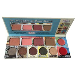Blush lipstick palettes online shopping - Eye Shadow Makeup Palette Brand Colors Eyeshadow Blush In thebalm of Your Hand Matte Lipstick Beauty Eyebrow Fix Face Powder Palette