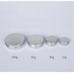 Handmade screws online shopping - 15g g g g Empty Aluminum Jars Refillable Cosmetic Bottle Ointment Cream Sample Packaging Containers Screw Cap