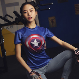 $enCountryForm.capitalKeyWord Australia - 2017 gym fitness women steel beast compression shirt superman batman train t shirt fit tight shirts t-shirt 3D print 10 colours