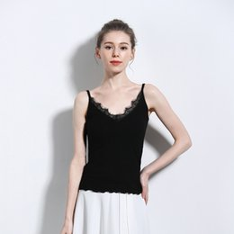 cotton camisoles wholesale Australia - Cotton Camisole Sleeveless Summer style Top Female Tank Top Solid Colors 9941